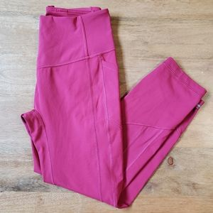 Lululemon All the Right Places Crop Pink Size 8